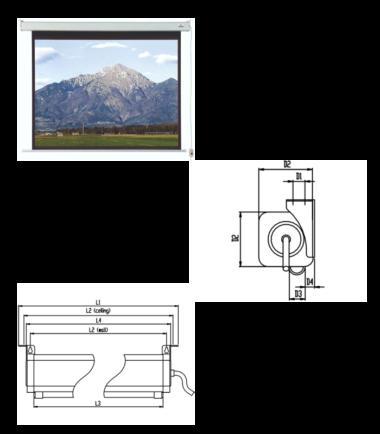 VEGA EL S 200 električno platno za projektor sa daljinskim upravljačem