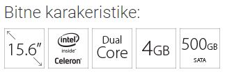 "LENOVO IdeaPad 330-15IGM 15.6"" Intel N4000 1.1GHz(2.6GHz) 4GB 500GB Siva"