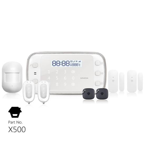 X500 GSM/SMS/RFID Touch Alarm System Smanos