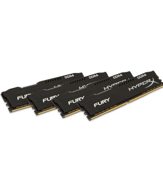 KINGSTON DIMM DDR4 64GB (4x16GB kit) 2666MHz HX426C16FBK4/64 HyperX Fury Black