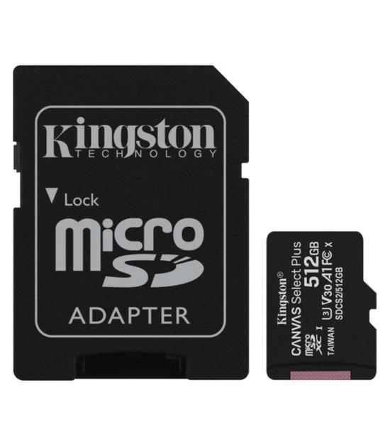 KINGSTON A1 MicroSDXC 512GB 100R class 10 SDCS2/512GB + adapter
