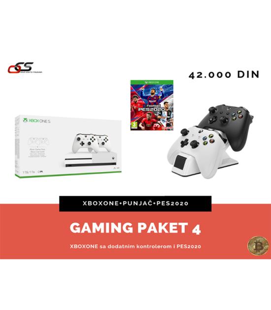 Gaming paket 4 - XBOXONE+controller+Energizer 2X+Pes2020