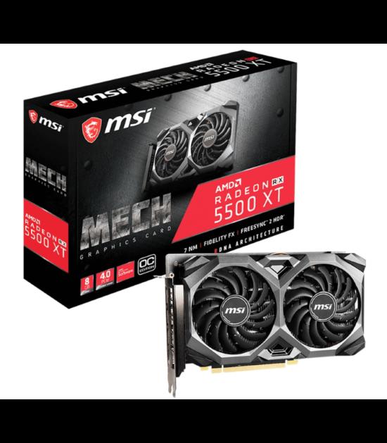 MSI AMD Radeon RX 5500 8GB 128bit RX 5500 XT MECH 8G OC
