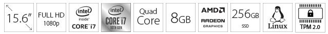 """DELL Vostro 3590 15.6"""" FHD i7-10510U 8GB 256GB SSD Radeon 610 2GB crni"""