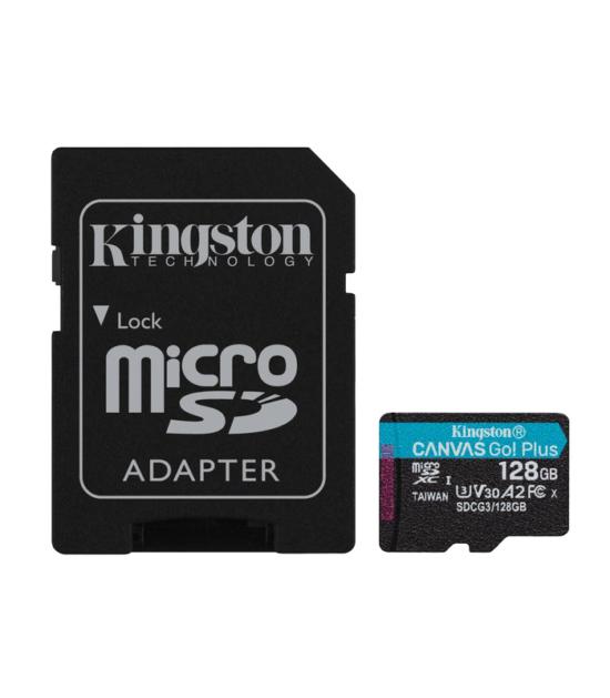 KINGSTON U3 V30 microSDXC 128GB Canvas Go Plus 170R A2 + adapter SDCG3/128GB