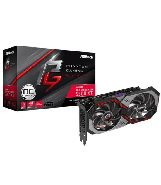 ASROCK AMD Radeon RX 5500 XT 8GB 128bit RX5500XT PGD 8GO