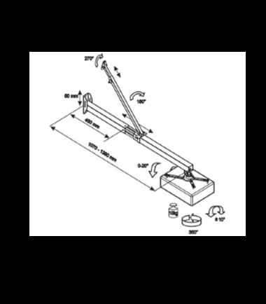 VEGA WMC 39-140 zidni nosač za Short Throw projektor