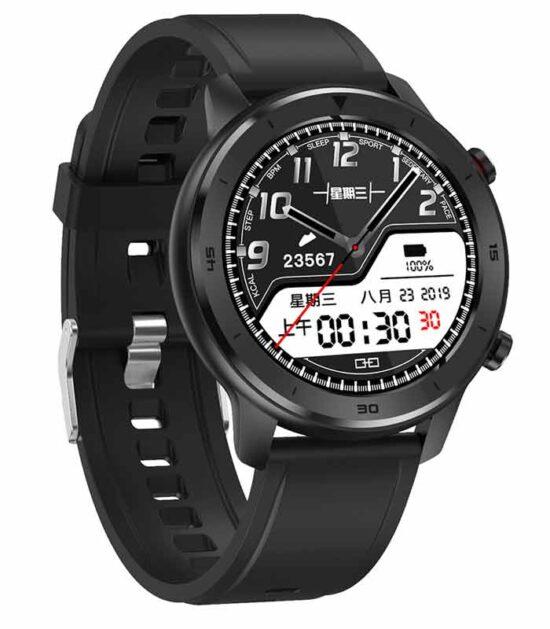 DT78 Black Silicone Strap - Black Watch crni pametni sat