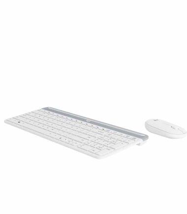 LOGITECH MK470 Wireless Desktop US bela tastatura + miš
