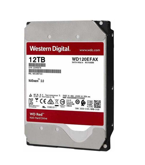 WD 12TB 3.5 SATA III 256MB 5400 WD120EFAX Red