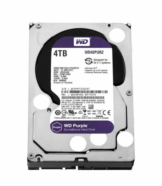 """WD 4TB 3.5"""" SATA III 64MB IntelliPower WD40PURZ Purple"""