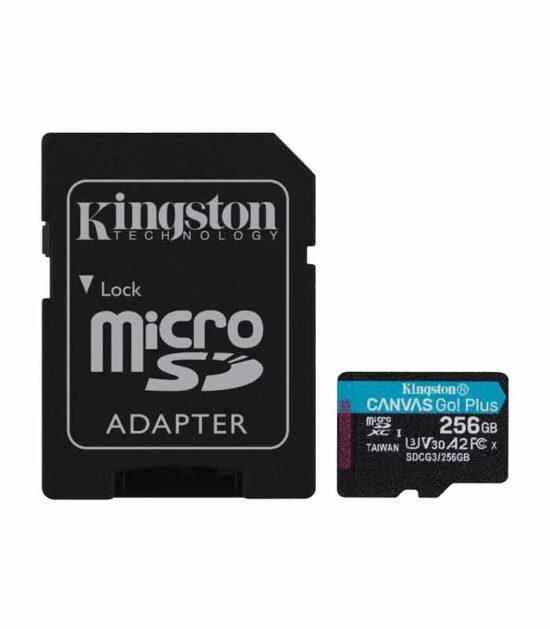 KINGSTON U3 V30 microSDXC 256GB Canvas Go Plus 170R A2 + adapter SDCG3/256GB