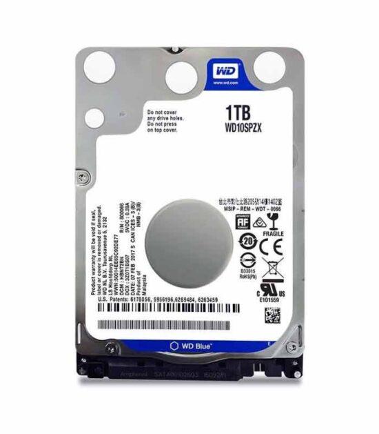 """WD hard disk 1TB 2.5"""" SATA III 128MB 5.400 WD10SPZX Blue"""