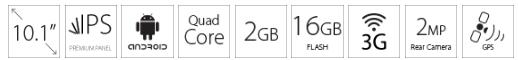 Tablet MEDIACOM Smartpad 10.1