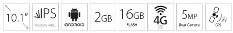 Tablet MEDIACOM Smartpad 4G