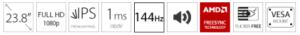 GAMING monitor AOC 23.8