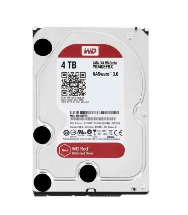 "WD 4TB 3.5"" SATA III 64MB IntelliPower WD40EFRX Red OUTLET"