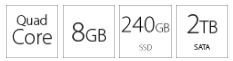 Desktop računar PC INTEL i3-8100 8GB 240GB 2TB
