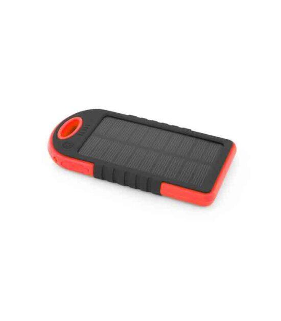 SOLARNI PUNJAČ za telefon Prenosna baterija 5200mAh Crveni