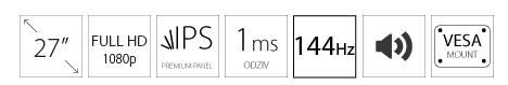 AOC 27 27G2U/BK IPS monitor