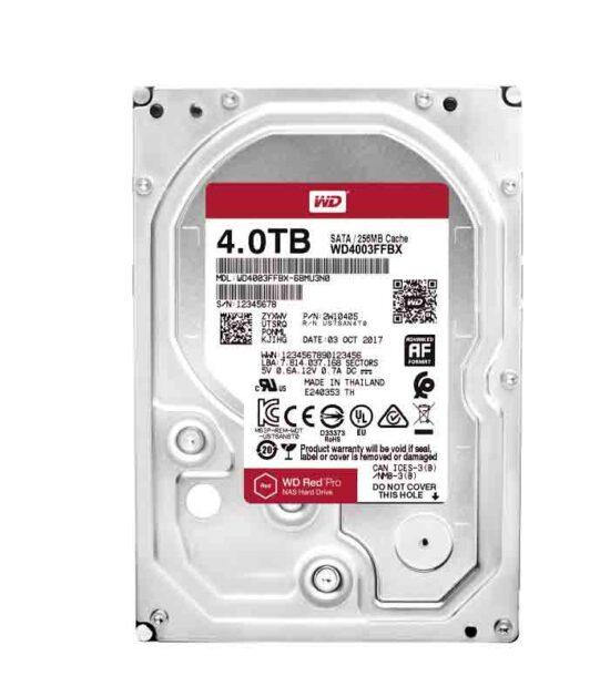 """WD 4TB 3.5"""" SATA III 256MB 7.200 WD4003FFBX Red Pro"""