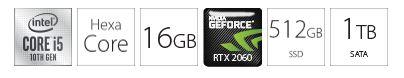 Desktop računar PC INTEL i5-10500 16GB