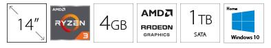 HP 14-DK1025WM 14 AMD Ryzen 3 3250U