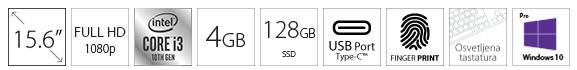 DELL Latitude 3510 15.6 FHD i3-10110U