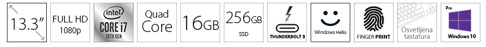 DELL Latitude 7310 13.3 FHD i7-10610U 16GB 512GB SSD Backlit FP SC Win10Pro