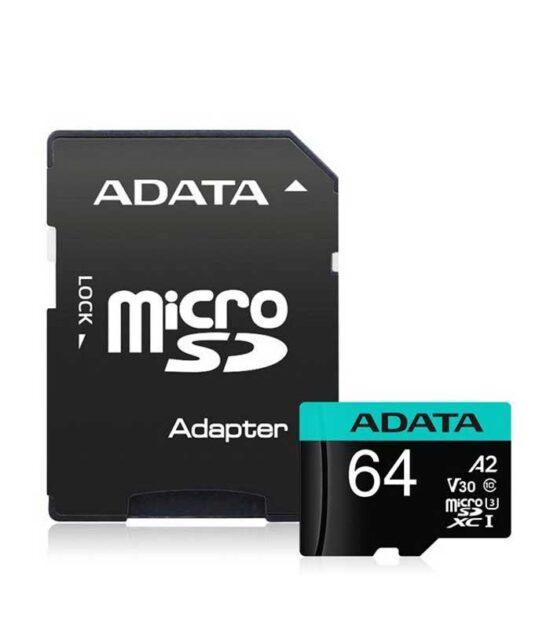 A-DATA UHS-I U3 MicroSDXC 64GB V30S class 10 + adapter AU