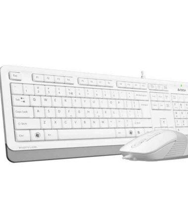 A4 TECH F1010 USB US bela tastatura + USB beli miš