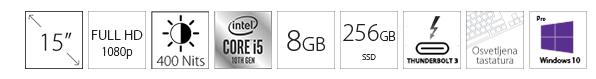 DELL Latitude 9510 15 FHD i5-10210U 8GB 256GB SSD