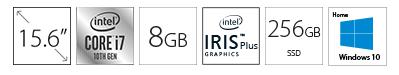 HP 15-DY1048 15.6 i7-1065G7 8GB 256GB SSD