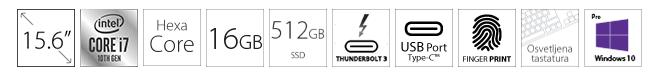 DELL Precision M5550 15.6 FHD+ i7-10750H 16GB 512GB SSD Quadro T1000 4GB