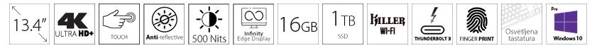 DELL XPS 9310 13.4 UHD+ Touch 500nits i7-1185G7 16GB 1TB SSD Intel Iris Xe