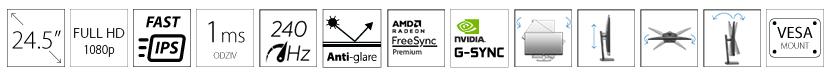 DELL 25 AW2521HFA 240Hz FreeSync G-Sync Alienware Gaming monitor