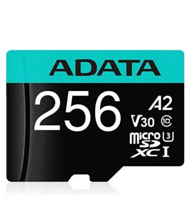A-DATA UHS-I U3 MicroSDXC 256GB V30S A2 + adapter AUSDX256GUI3V30SA2-RA1