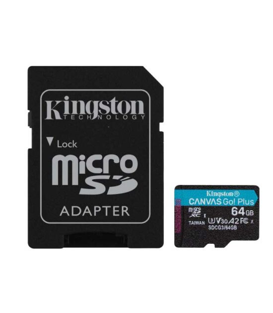 KINGSTON U3 V30 microSDXC 64GB Canvas Go Plus 170R A2 + adapter SDCG3/64GB