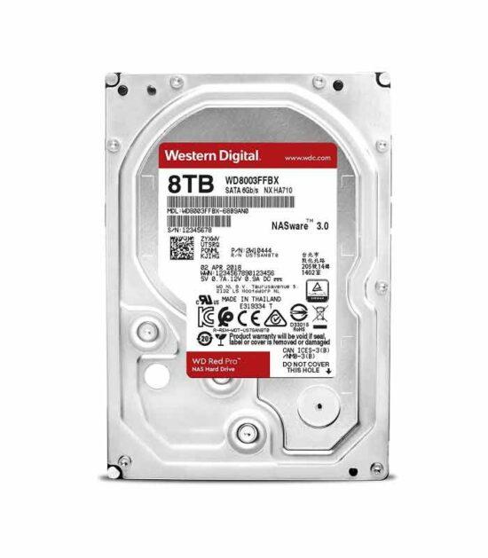 WD 8TB 3.5 SATA III 256MB 7.200rpm WD8003FFBX Red Pro