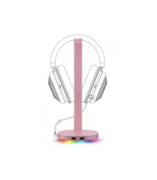 Base Station V2 Chroma - Headphone Stand with USB 3.1 and 7.1 Surround Sound - roze