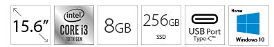 HP 15-DY1091 15.6 i3-1005G1 8GB 256GB SSD Win10Home srebrni