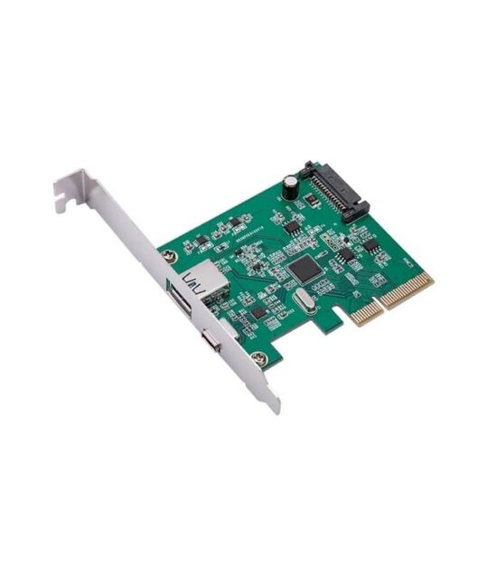 E-GREEN PCI-Express kontroler USB 3.1 Type-A+USB-C Host