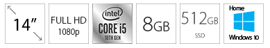 LENOVO IdeaPad 3 14IIL05 14 FHD i5-1035G1 8GB 512GB SSD Win10Home sivi