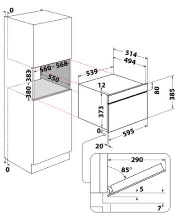 WHIRLPOOL AMW 730/IX ugradna mikrotalasna rerna