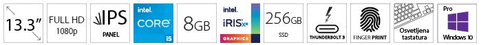 DELL Latitude 5320 13.3 FHD i5-1145G7 8GB 256GB SSD Intel Iris Xe Backlit FP SC