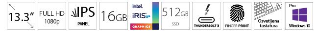 DELL Latitude 5320 13.3 FHD i7-1185G7 16GB 512GB SSD Intel Iris Xe Backlit FP SC Win10Pro