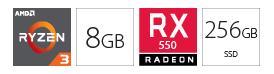 Desktop računar PC AMD Ryzen 3 1200 8GB 256GB AMD550 4GB