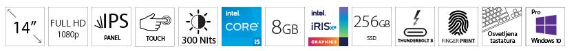 DELL Latitude 5420 14 FHD Touch i5-1145G7 8GB 256GB SSD Intel Iris Xe