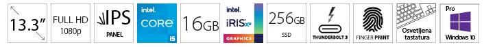 DELL Latitude 5320 13.3 FHD i5-1135G7 16GB 256GB SSD Intel Iris Xe
