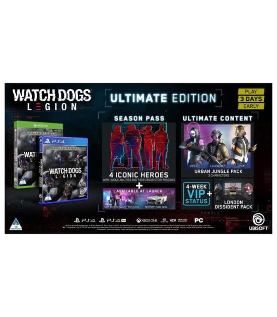 PS4 Watch Dogs: Legion - Ultimate Edition